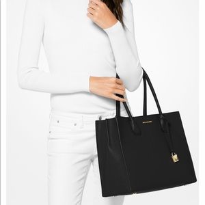 26ae2c480a9473 Michael Kors Bags - MICHAEL KORS Mercer Extra Large Leather Tote